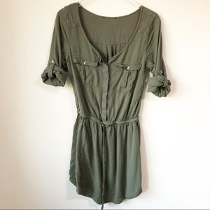 American Eagle | Olive green draped dress
